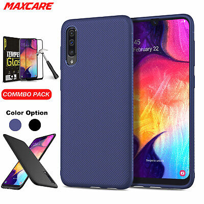 Samsung Galaxy A20 A30 A50 Case, Thin Soft Silicone Anti-falling Cover