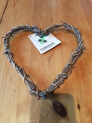 Heart Wicker Wire Wreath Craft  Love Wedding willow flower arranging small