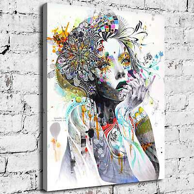 """12""""x16""""Girl Painting Abstract Art HD Canvas Prints Painting Home Decor Wall art"""