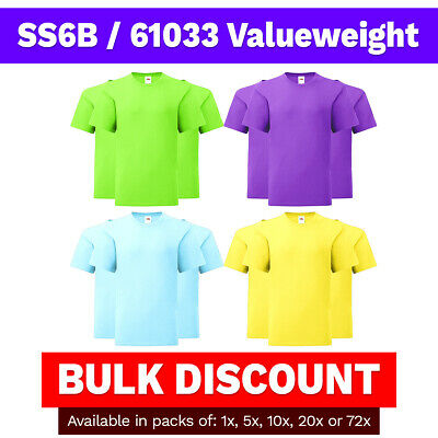 c2eb289a Kids Fruit of the Loom T-Shirt Coloured Valueweight SS6B 61033 Wholesale  Bulk