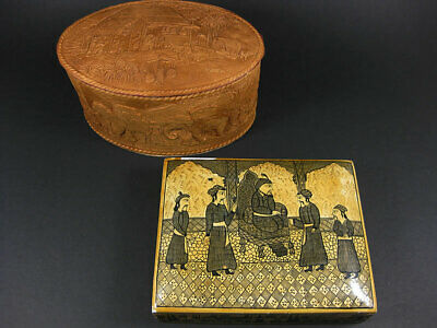 2 x GENUINE VINTAGE COLLECTIBLE JEWELLERY OR TRINKET BOXES