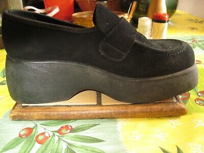 d6e13a76e9dd58 MOCASSINS CHAUSSURES CUIR Noires T 36 Marco vintage Made In France ...