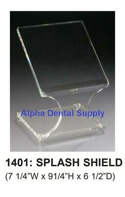 "Plasdent Dental Medical Splash Shield 7-1/4""W x 9-1/4""H x 6-1/2""D Clear #1401"