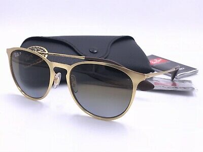 bcb858dfce Ray Ban RB3539 112 T5 ERIKA METAL Gold  POLARIZED Brown Gradient AUTHENTIC