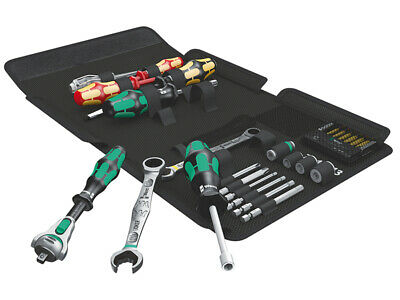 Wera Kraftform Kompakt Plumb Kit Joker Ratchet Wrench & Socket Bits Set 19-Piece