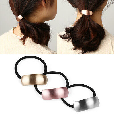 Shape Star   Triangle  Metal Girl Rope Elastic Ponytail Holder Alloy Hair Band