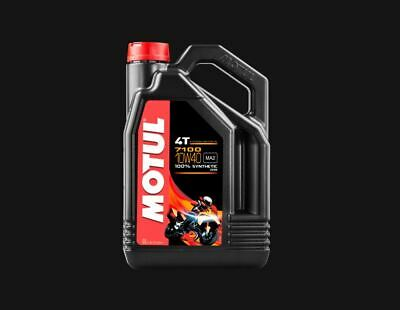 NEW Motul 7100 10W40 10W-40 4T Motorcycle Fully Synthetic ENGINE OIL 4L 450017