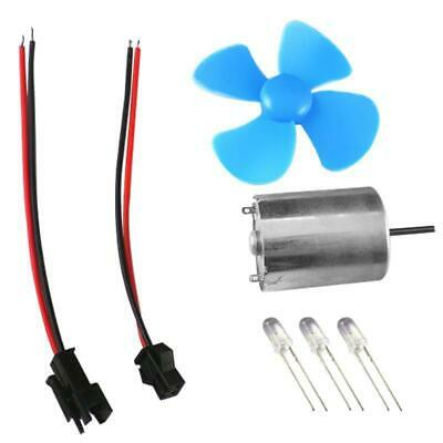 60mm Blue LED Windmill Wind Generator Turbine Teaching Model Mini DC Motor