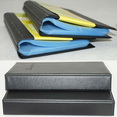 60 Business Name Card Holder Book Cover Case Pouch Folder Black-Color