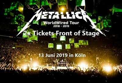 !!! 2x Tickets Front of Stage Stehplatz 2 Metallica in Köln!!!