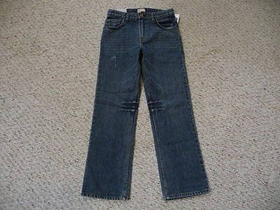 GAP boys denim blue straight fit jeans adjustable waist 12 regular NEW