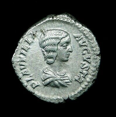 Plautilla. Excellent Denarius. Wife of Caracalla. Ancient Roman Silver Coin.
