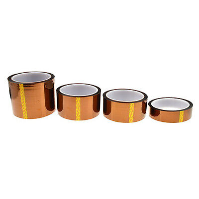 1x 20mm 100ft Gold Heat Resistant High Temperature Kapton Polyimide-Tape