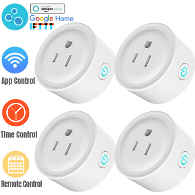 4X MINI WIFI Phone Smart Socket Outlet Time Swtich Amazon