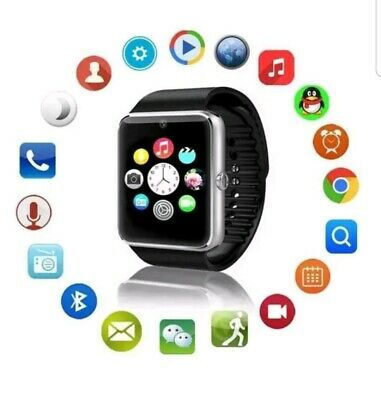 Orologio Telefono Smart Watch Android Ios Con Sim Bluetooth Micro Sd Gt08 Nero