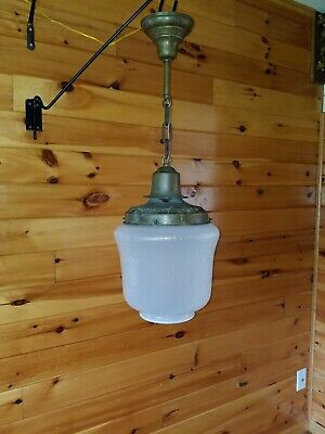 Antique General Electric 1920s HUGE!!!! Copper Industrial Hanging Light Fixture