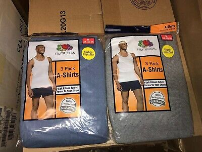 Fruit Of The Loom Mens 6 Pack Color A Shirt Tank Top S M XL 2XL 100% Cotton!!