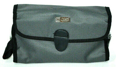 Chaps Bag Toiletry Hanging Travel Case Makeup / Shave Case Pouch Amenity Kit