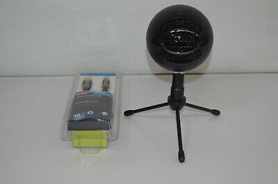 Blue Microphones Snowball Black iCE USB Cardioid Microphone Adjustable Mic Stand