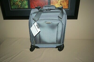 Samsonite Spinner Rolling Carry-On Luggge UnderSeat Tote with USB Port Grey