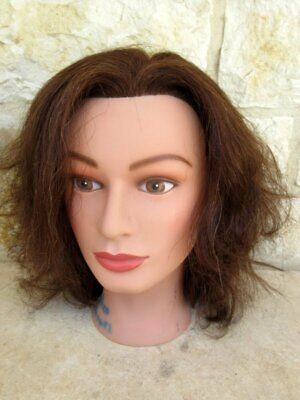 Miss Suzie-Kin #14901 Cosmetology Mannequin Head Brown Human Hair