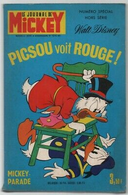 MICKEY PARADE HORS SERIE N°1016 Bis .. PISCOU VOIT ROUGE .. 1971