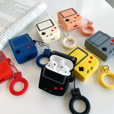 3D Cute Silicone Gameboy Case For Apple Airpods Earbuds Earphone Protector Cover
