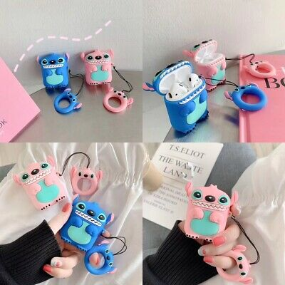 Stitch Protective Case For Airpods Apple Wireless Bluetooth Earphone Box Cover