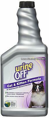 Urine Off Cat & Kitten Spray 500ml Guaranteed to permanently remove stain, smell