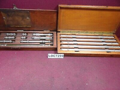 Lufkin End Measuring Rods , Micrometers & Extra Rods Lot Of 16 Loc7299
