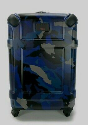 NWT Tumi Blue Camo Spinner Winslow International Carry-On Hardside Luggage Navy