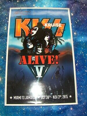 KISS Kruise V Poster Signed autographed by Lita Ford and her band mates