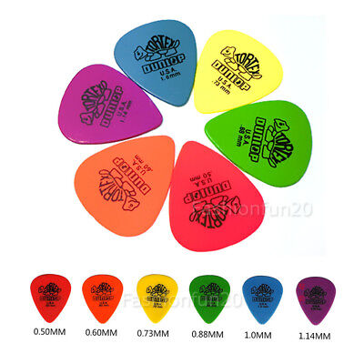 24 X Dunlop Tortex Standard Plectrums Mixed Pro Gauges Guitar Picks 0.5-1.14mm