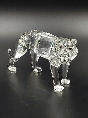 a0c77d79a36 SWAROVSKI CRYSTAL TIGER, clear crystal, retired, rare 220470 with ...