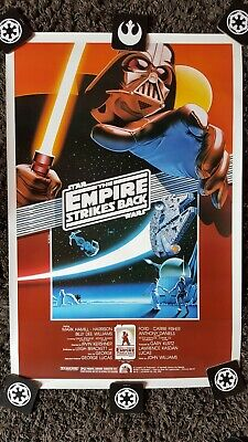 Star Wars the empire strikes back poster 10th Anniversary by Lawrence Noble 1990