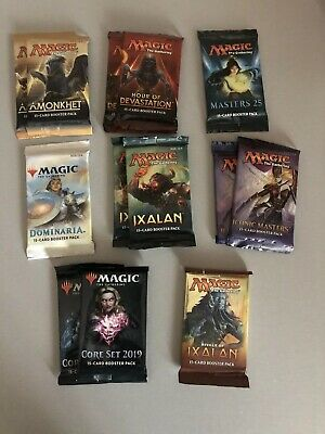 Magic the Gathering booster pack lot Iconic masters master 25 Dominaria total 13