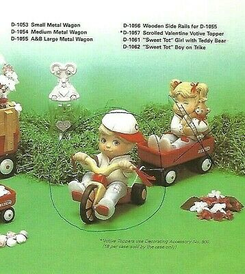 """Ceramic Bisque Hand-Painted Sweet Tot Boy With Trike, 7"""" Tall"""