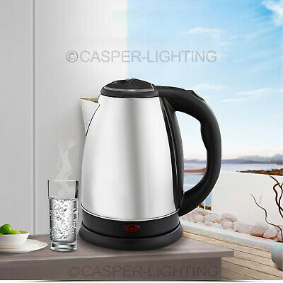 Premium Stainless Steel Silver 2L Jug Electric Kettle Indicator Light Cordless