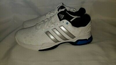 timeless design fee05 09409 New Men s Adidas Barricade Club Tennis Shoes White  Silver Sz 10 AF6780