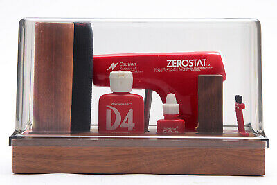 Vintage Dishwasher Record Cleaning Kit D4 & SC-2 with Zerostat Gun in Dust Cover
