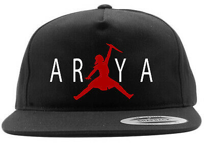 BLACK Arya Stark Game of Thrones GOT AIR Snapback Hat