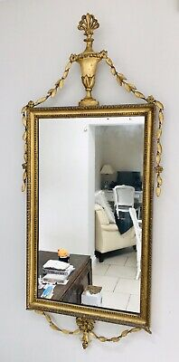 LOVELY LARGE FRENCH ANTIQUE 19th CENTURY GILTWOOD MIRROR C1900