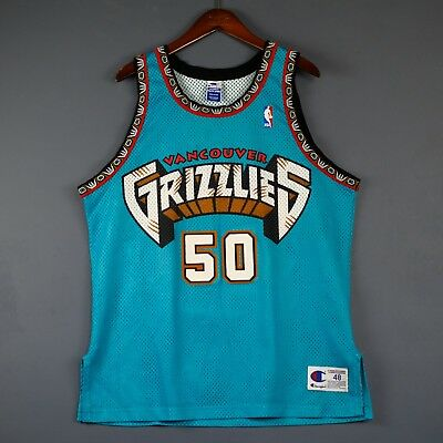 f751006ea95 100% Authentic Bryant Reeves Vintage Champion Grizzlies NBA Jersey Size 48  L XL