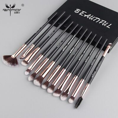 Anmor Pro Makeup Brushes Set 12 pcs/lot Eye Shadow Blending Eyeliner Eyelash