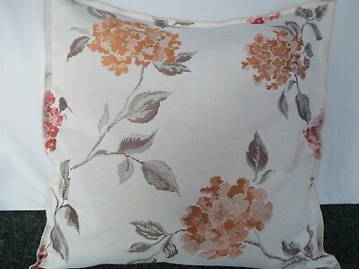 £10.00 For Pair 24 Inch  Giant Cushions ,Gold ,Brown And Rose On Beige