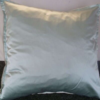 £10.00 For A Pair Of 24 Inch Extra Large Giant Cushions Woven Mint Green Colour