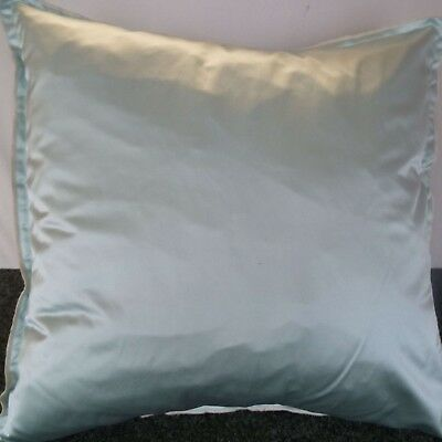 Pair Of 24 Inch Extra Large Giant Cushion Soft Mint Green Satin