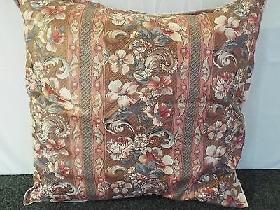 Pair Of 24 Inch Extra Large Giant Cushions Grey,Rose And Ivory