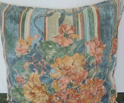 Pair Of 24 Inch Extra Large Giant Cushion Rust,Blue,Green And Gold