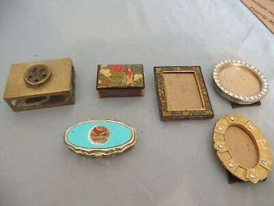 VIntage lot of brass match box and more